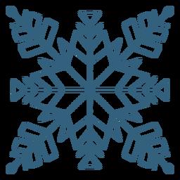 Bonito símbolo de copo de nieve