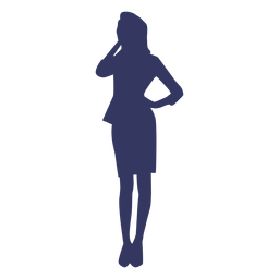 Office lady silhouette