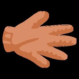 Piece of glove trash