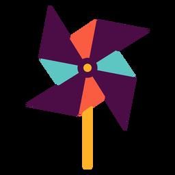 Pinwheel toy flat