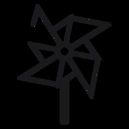 Pinwheel toy icon