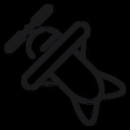 Plane toy icon