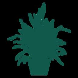 Planta silueta frondosa