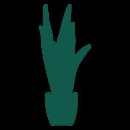 Pflanzen Sie große Silhouette