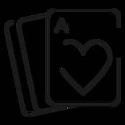 Ícone de cartas de jogar