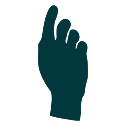 Pointing up hand vector