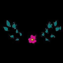 Ornamento floral bonito