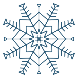 Pretty snowflake symbol