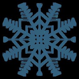 Símbolo bonito floco de neve