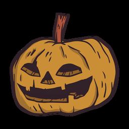 Ilustración de halloween de calabaza