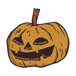 Pumpkin halloween illustration