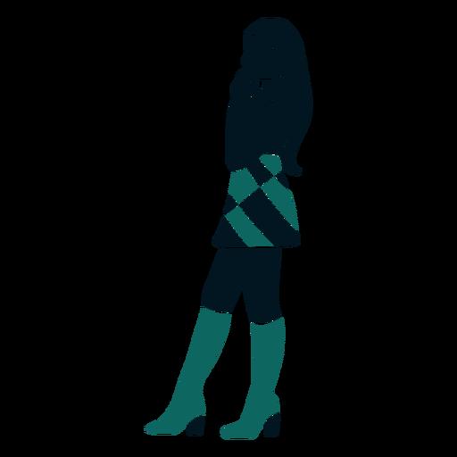 Retro girl side