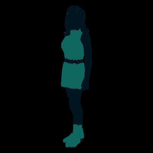 Chica de estilo retro Transparent PNG