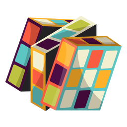 Rubiks cube illustration