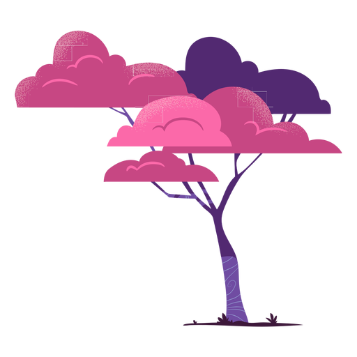 Safari tree colorful Transparent PNG