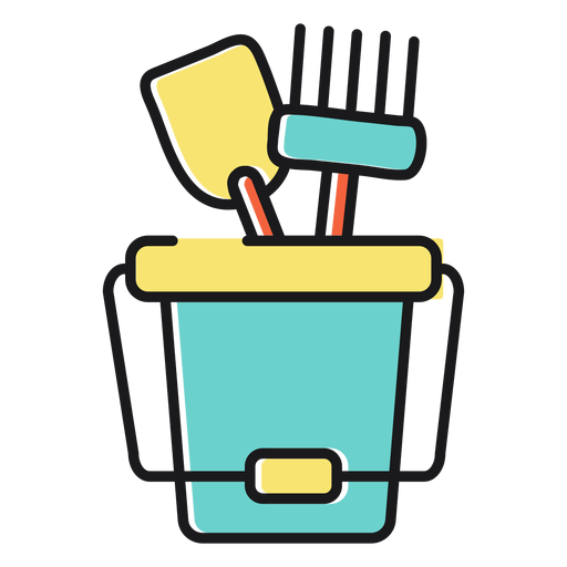 Sand bucket icon beach Transparent PNG