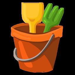 Ilustración de cubo de arena