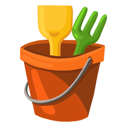 Sand bucket illustration