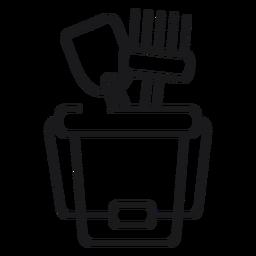Icono de herramientas de cubo de arena