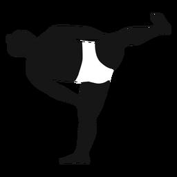 Luchador de sumo de patada lateral