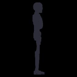 Silhueta de esqueleto de vista lateral