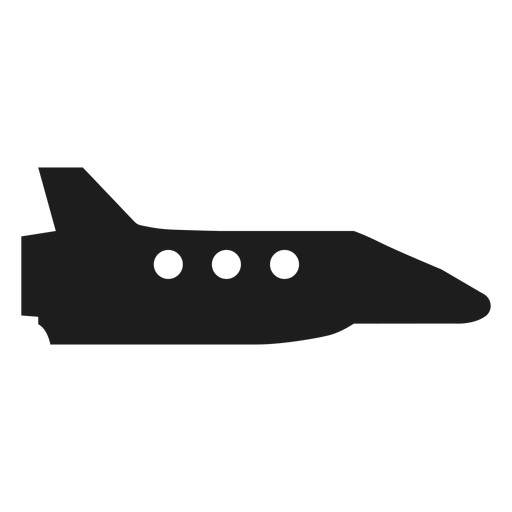 Side view spaceship vector