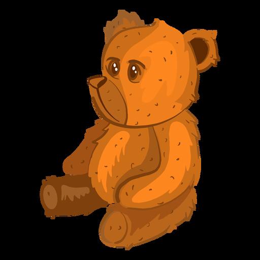 Side teddy bear illustration