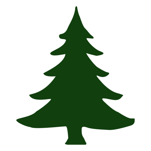 Simple christmas tree Transparent PNG