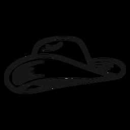 Simple cowboy hat stroke