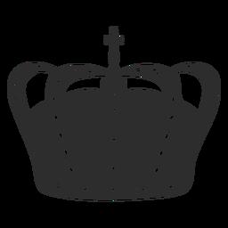 Coroa simples com cruz