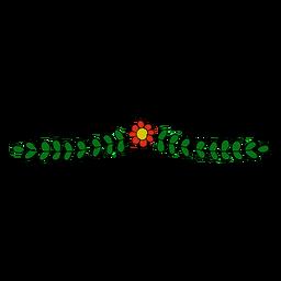 Ornamento floral simple