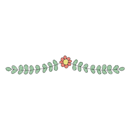 Ornamento floral simples