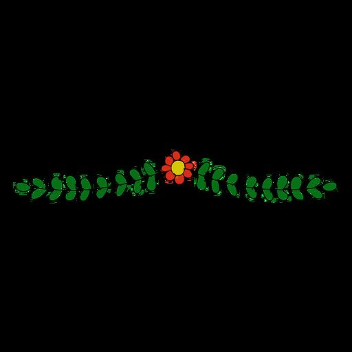 Ornamento floral simple Transparent PNG