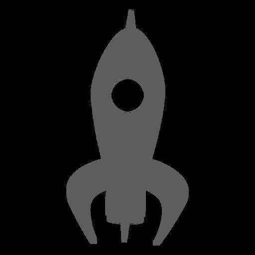 Simple spaceship silhouette