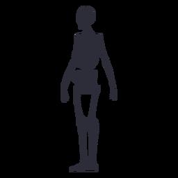 Skeleton silhouette side