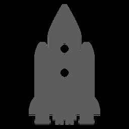 Silhueta da nave espacial incrível