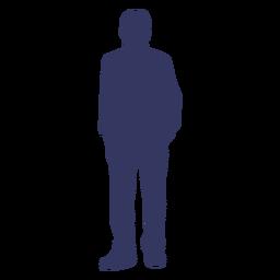 Silhueta de homem em pé