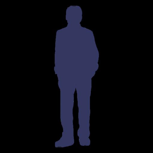 Silueta de hombre de pie Transparent PNG