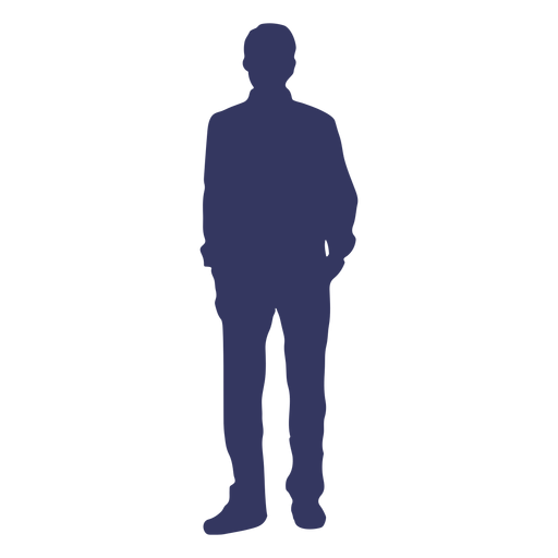 Standing man silhouette Transparent PNG