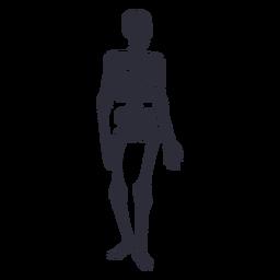 Silueta de esqueleto de pie