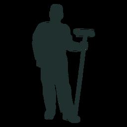 Standing sweeper vector