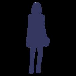 Silueta de mujer de pie