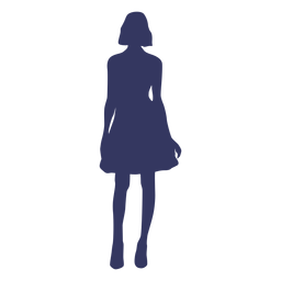 Standing woman silhouette