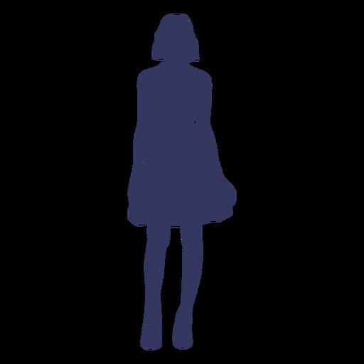 Silueta de mujer de pie Transparent PNG