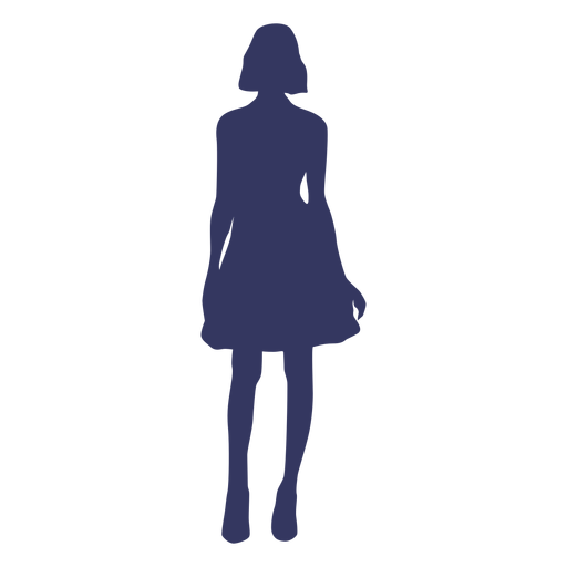 Standing woman silhouette Transparent PNG