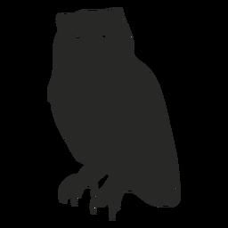 Staring owl vector