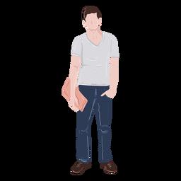 Estudiante mano en la ilustración de bolsillo
