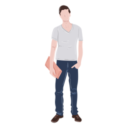 Student hand in pocket illustration