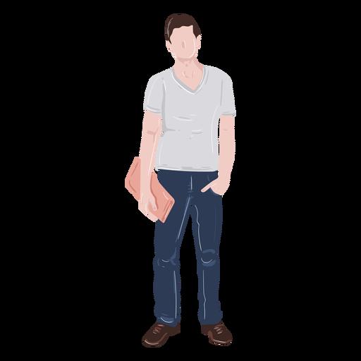 Student hand in pocket illustration