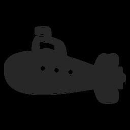 Vetor submarino simples